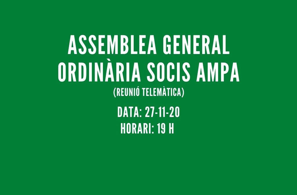 ASSEMBLEA GENERAL 2020-2021