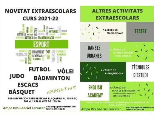 EXTRAESCOLARS CURS 2021-22